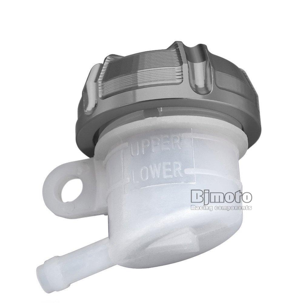 BJ Global CNC Motorcycle Rear Brake Fluid Bottle Master Cylinder Reservoir Oil Cup Tank
