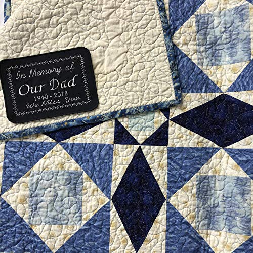 Embroidered Custom Quilt Label Quilt Tag Personalized One Custom 4 5