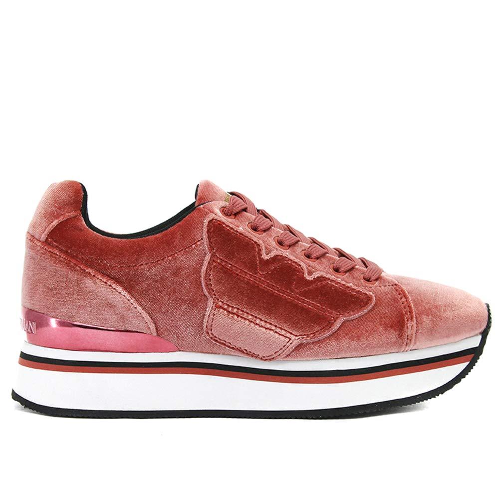 Emporio Armani Damen Laufschuhe Farbe Rosa Marke Modell Damen Laufschuhe X3X057 XD163 Rosa