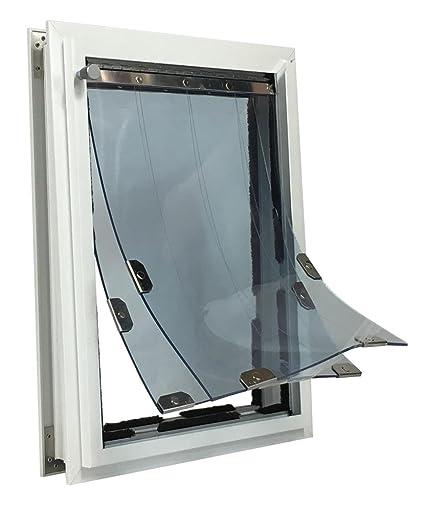 Security Boss MaxSeal PRO Pet Door For Doors   Medium 9u0026quot; X 12u0026quot;