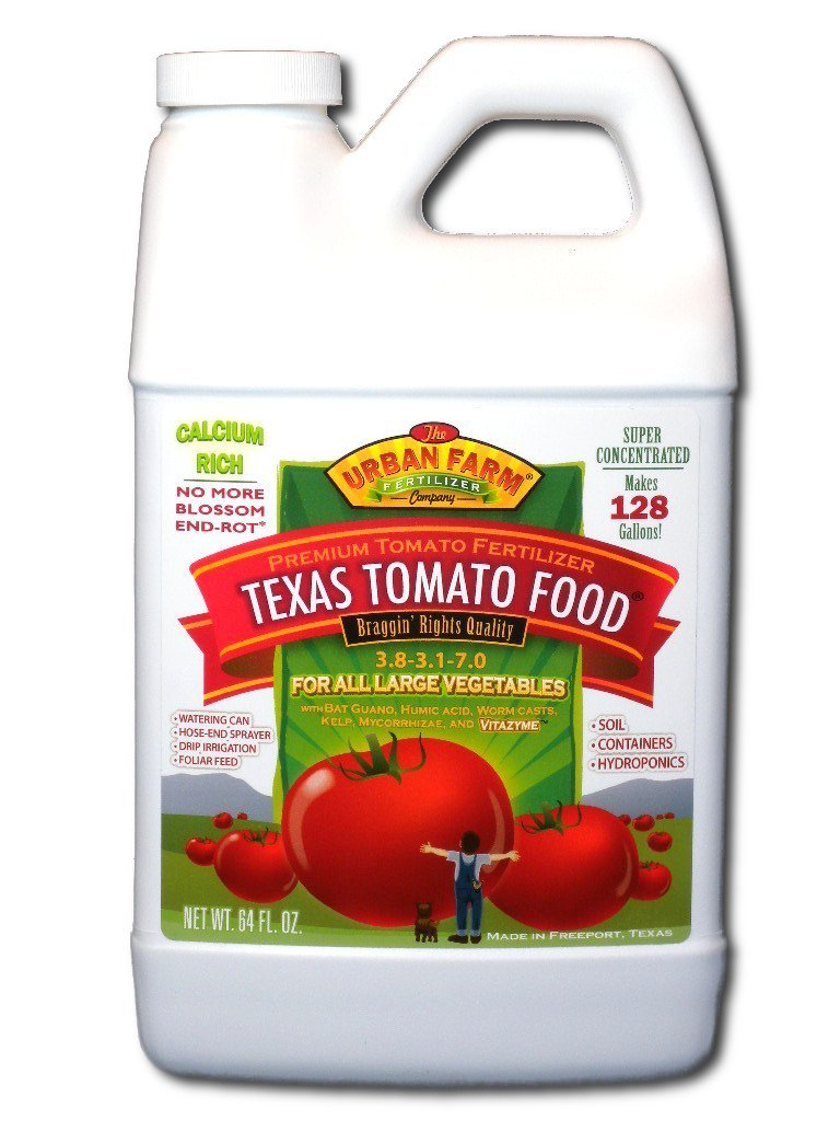 Urban Farm Fertilizers Texas Tomato Food. Competition Tomato Fertilizer. 1/2 Gallon