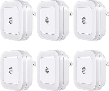 6-Pack Vont LED Night Light Plug-in Smart Dusk