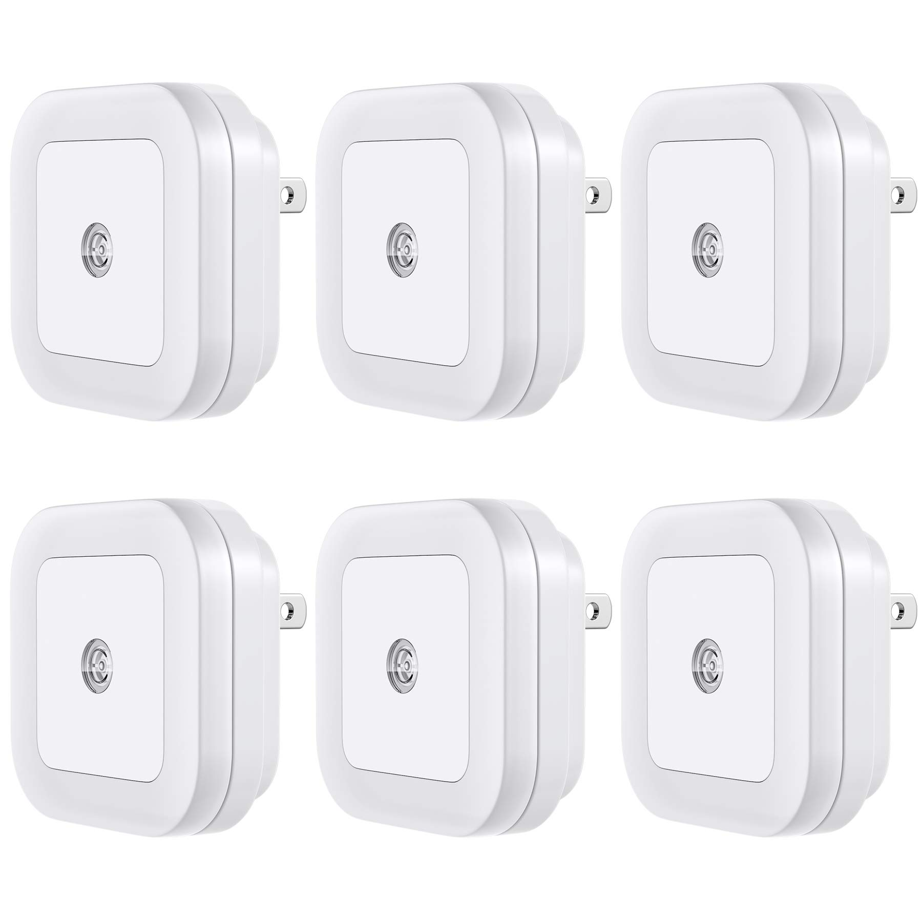 Vont LED Night Light (Plug-in), Smart Dusk to Dawn Sensor, Automatic Night Lights, Suitable for Bedroom, Bathroom, Toilet,Stairs,Kitchen,Hallway,Kids,Adults,Compact Nightlight, Energy, Cool White (6) by Vont