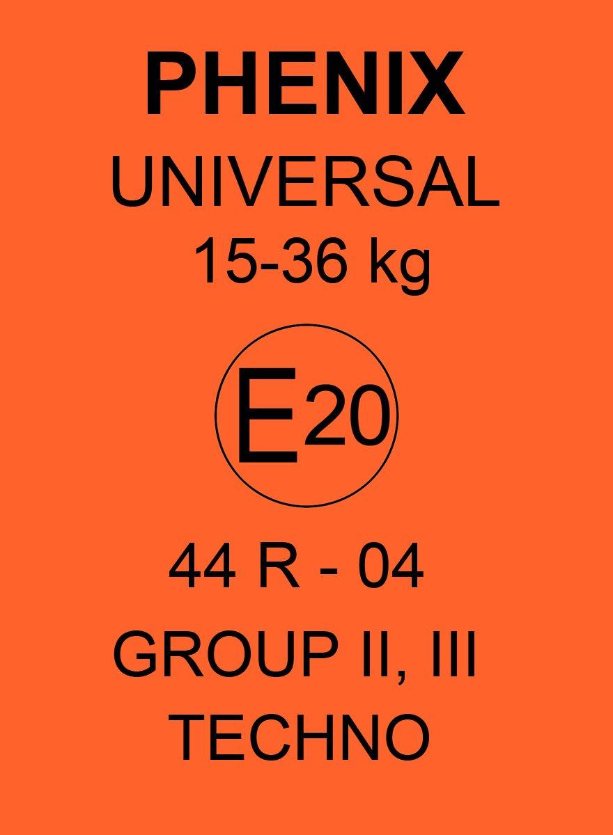 color azul Phenix Techno poliestireno Auto asiento elevador, funda incluida, ECE 44//04, grupo II y III, 15//–/36/kg