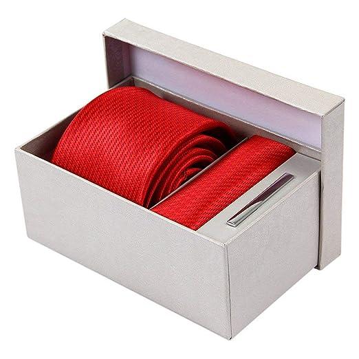 BAIJJ 8cm Rojo Pata de Gallo Conjunto Corbata Bolsillo Corbata ...
