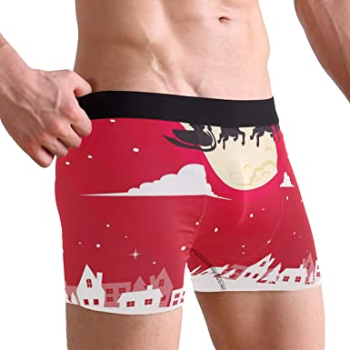 Mens Red Boxer Underwear for Christmas