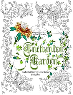 Enchanted Garden Coloring Book Books Volume 1
