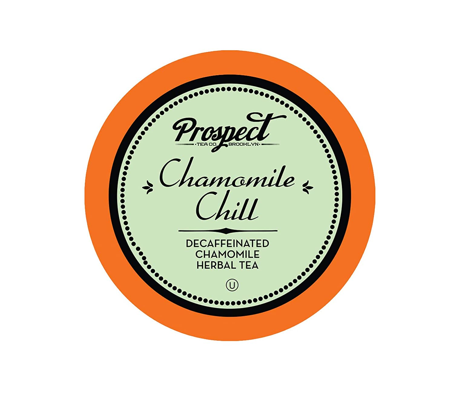 Prospect Tea DecaffeinatedChamomile Chill Herbal Tea Pods for Keurig K-Cup Makers, 40 Count