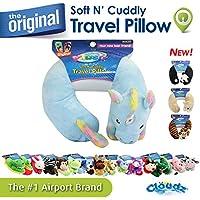 Cloudz Kids Plush Animal Travel Neck Pillow - Unicorn