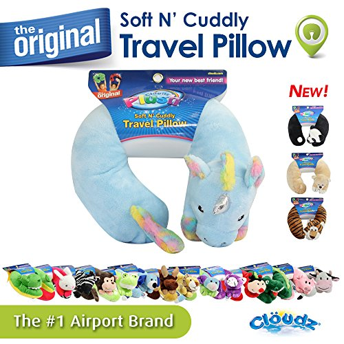Cloudz Kids Plush Animal Travel Neck Pillow - Unicorn