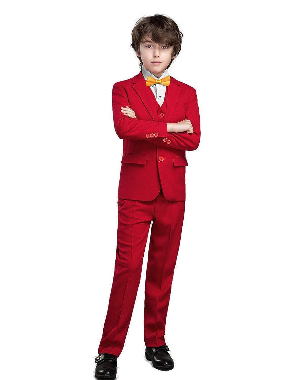 Yanlu Boys Suits Formal Dress Blazer Vest Pants Shirt Tie
