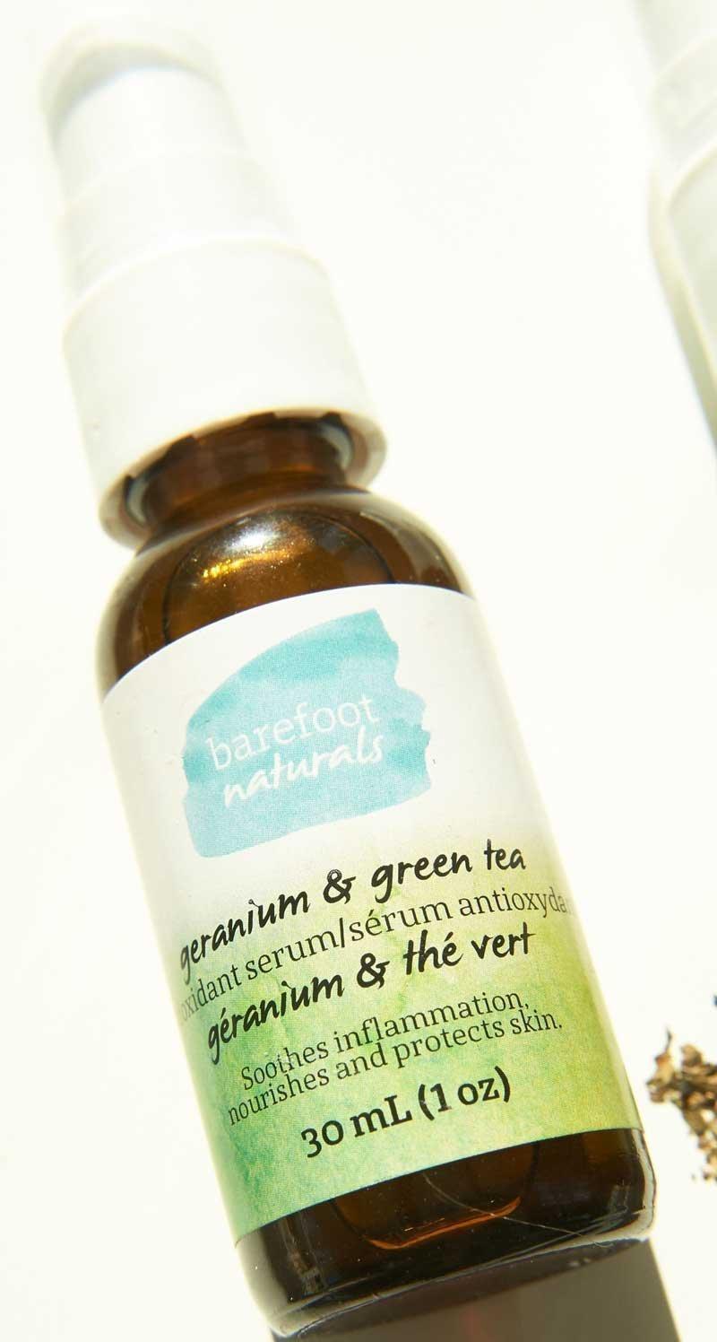 Barefoot Naturals - Geranium and Green Tea Antioxidant Women's Face Serum