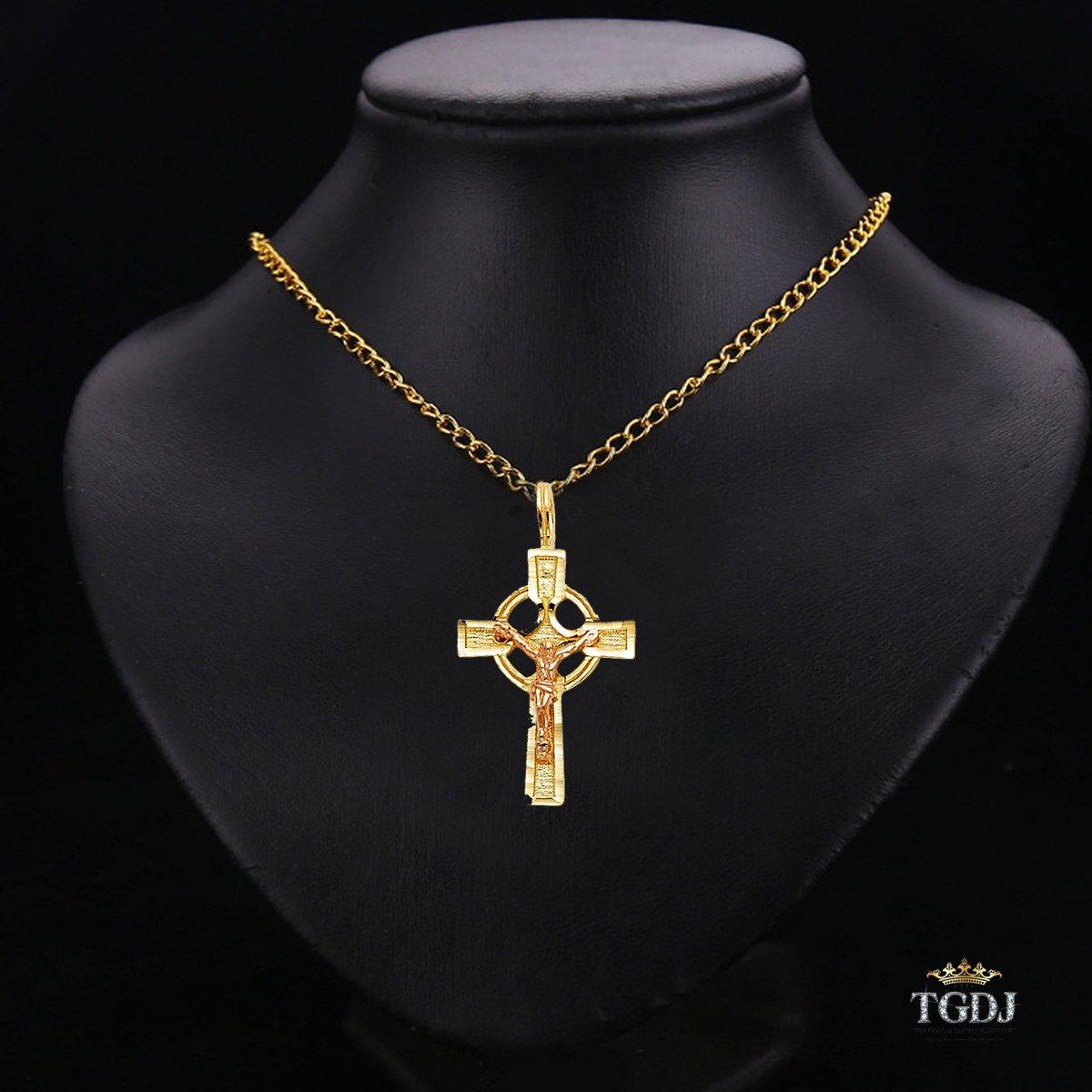 14k Yellow White Gold Religious Crucifix Pendant More