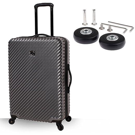Par de ruedas de recambio de 50 x 18 mm para maleta de equipaje con juego de reparación, de Alisa: Amazon.es: Deportes y aire libre