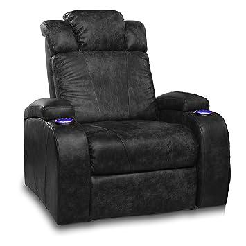 Superbe Row One Front Row Style II 2 Arm Power Headrest In Black Dura Gel