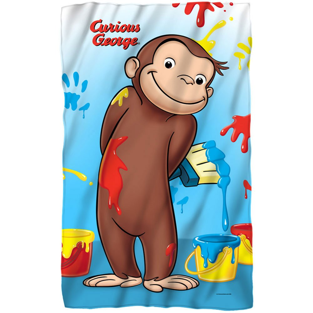 Amazon.com: Curious George – Manta de forro polar 35 x 57 de ...