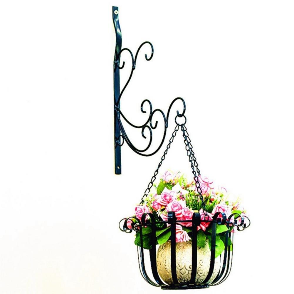 Per Uso Balcone o Patio Staffa Elegante Portavaso Pensile Bianco Adesivi Murali Vasi di Fiori Si Adatta a Vasi Rotondi e Quadrati Cesto di Ferro Attaccatura a Muro Flower Shelf Set