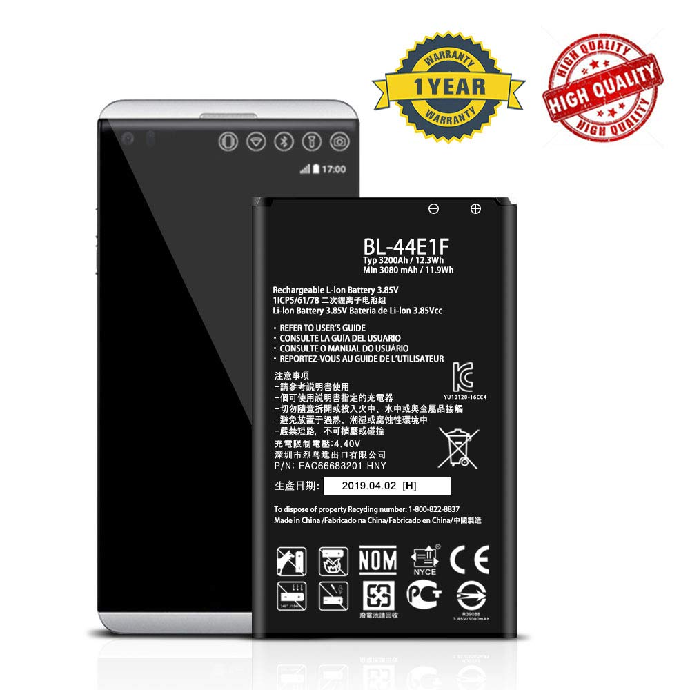 for LG stylo 3 Plus MP450, LG V20 H918 Replacement Battery BL-44E1F by DDONG