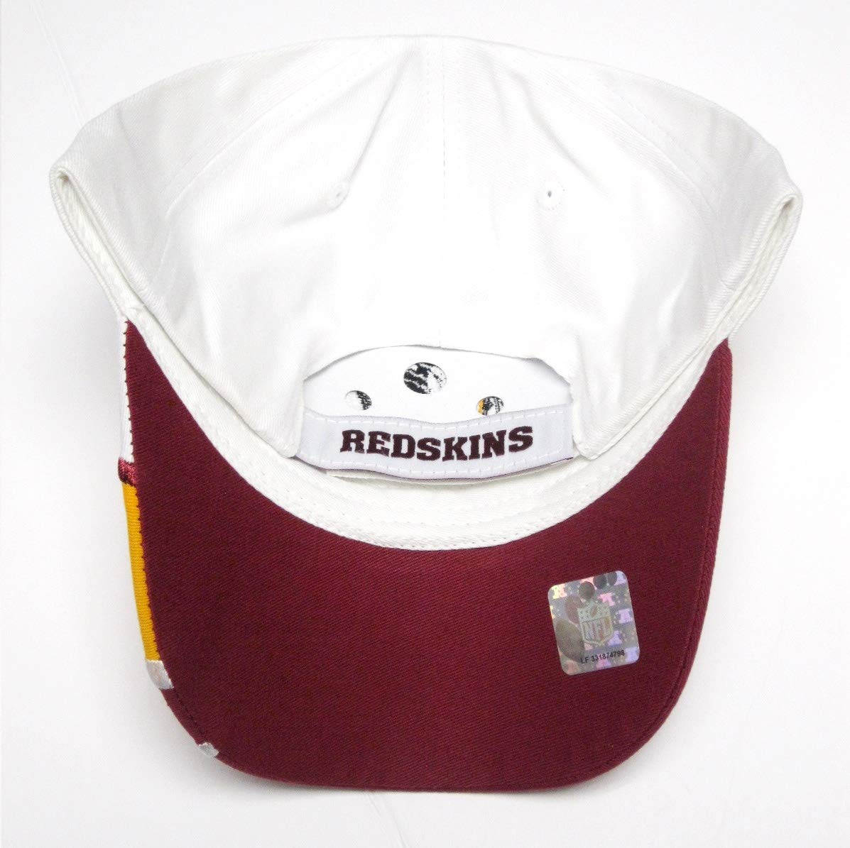 Amazon.com   Washington Redskins NFL Team Apparel White Shark Tooth Wave Hat  Cap Adult Men s Adjustable   Sports   Outdoors 8af8f48659f5