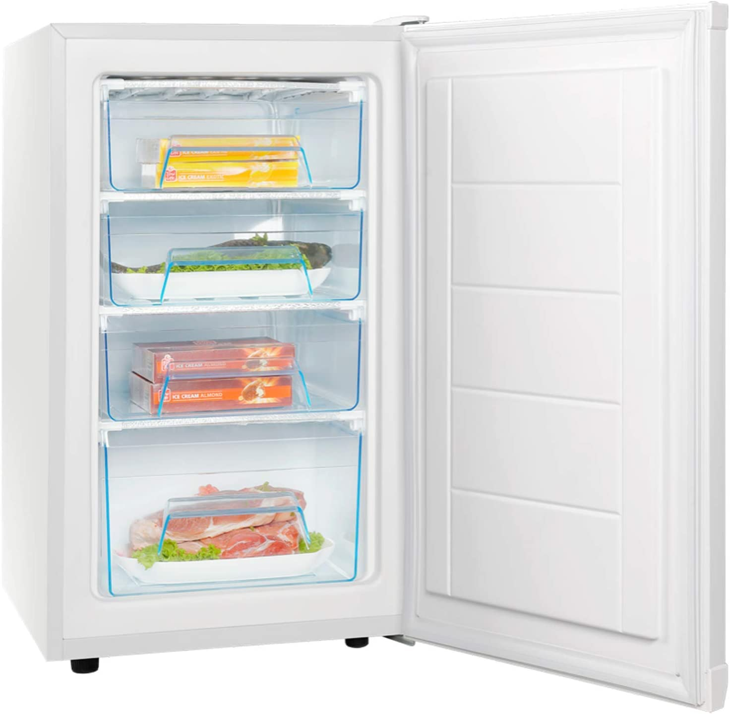 Energy Rating SIA UCF50WH 50cm White Freestanding Under Counter Freezer 80.5L A