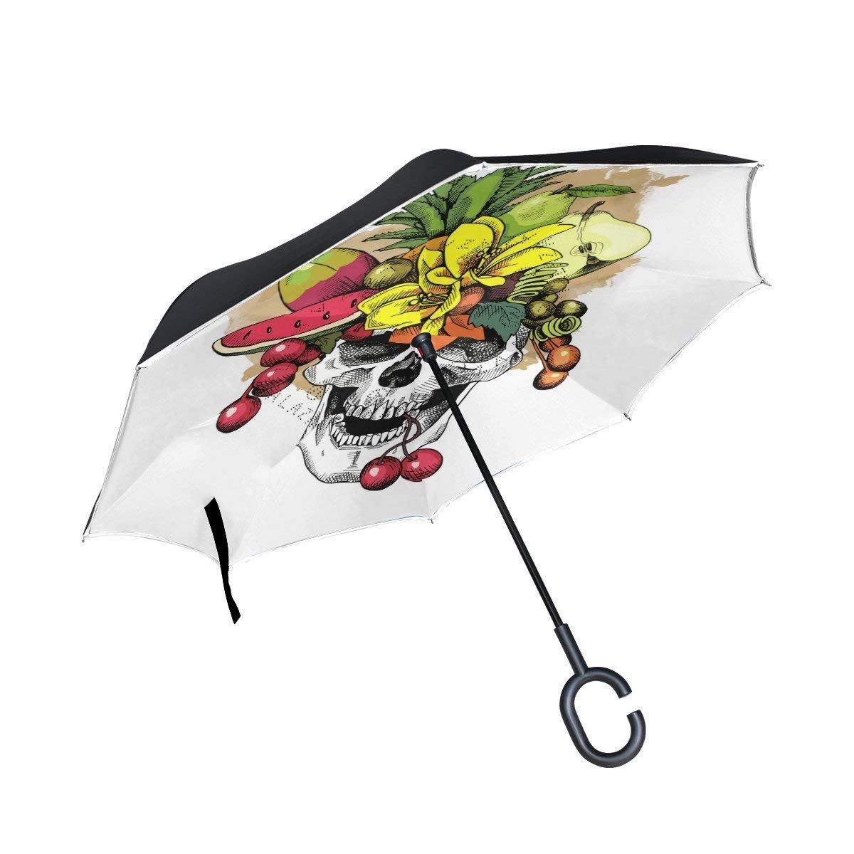 すべての同意油彩画ロンドンタワーブリッジInverted傘二層防風UV保護コンパクト車逆傘 One Size カラー6 B07G486N7B
