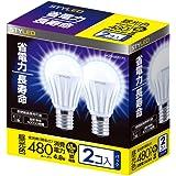 STYLED LED電球 口金直径17mm 2個入り 小形電球タイプ 4.8W 480lm (昼光色相当・密閉器具対応・小形電球40W相当) LA35N40D1P2