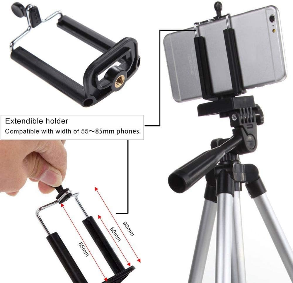 POCREATION Portable Flexible Camera Stand,Camera Tripod Mount Bracket Holder for iPhone Samsung Mobile Phone Canon Nikon Sony DV