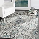 Safavieh Madison Collection MAD600C Cream and Light Grey Bohemian Chic Paisley Area Rug (4' x 6')