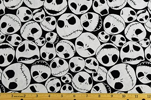 Disney Christmas Fabric By The Yard.Disney Fabric Nightmare Before Christmas Fabric Jack Faces By The Yard