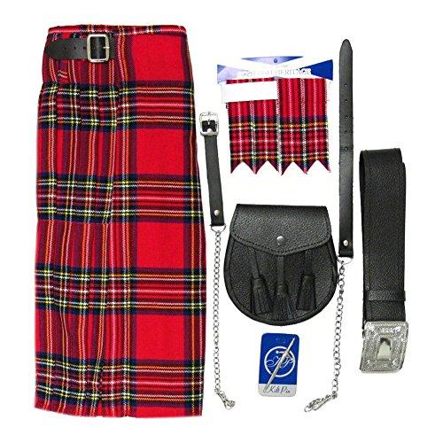 Royal Stewart Tartan 5 Piece Kilt Outfit - Size 38