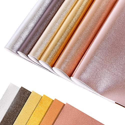 [해외]12 시트 메탈릭 색상 PVC 가죽 샤이니 펄리 리치 패턴 솔리드 컬러 패브릭 인조 가죽 시트 리본 주얼리 DIY 공예 장식 (20cm x 30cm) / 12 Sheets Metallic Colors PVC Leather Shiny Pearly Litchi Pattern Solid Color Fabric Faux Leather Sheets...