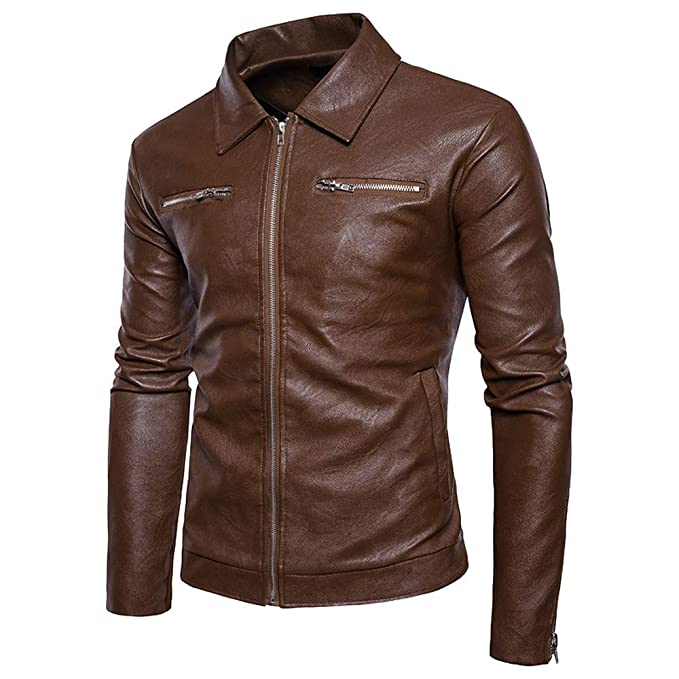 Boomboom Mens Winter Clothes, Cool Style Teens Boys Biker Moto Zipper Tops Jackets at Amazon Mens Clothing store: