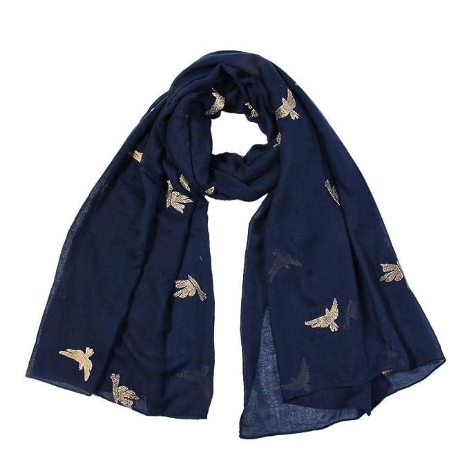 Lenfesh Fular Para Mujer Bufandas Bufanda larga suave del mantón ...