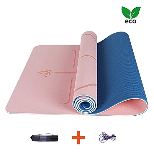 AJ Profesional Yoga Mat, Esterilla Pilates Yoga TPE Gruesa ...