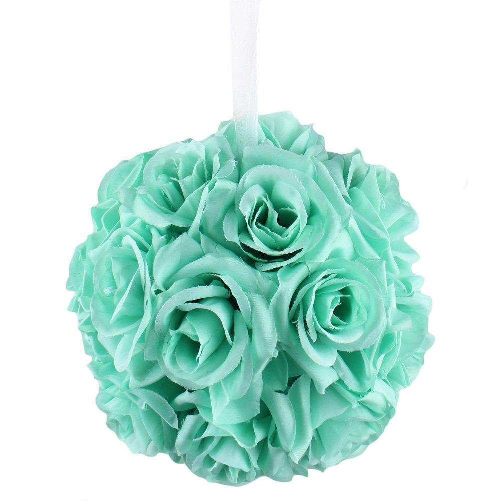 Amazon.com: AerWo Mint Green Rose Flower Ball Artificial Pomander ...
