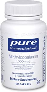 Pure Encapsulations - Methylcobalamin - Advanced Vitamin B12 for a Healthy Nervous System - 180 Capsules