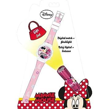 Minnie Mouse Reloj, Linterna Kids Euroswan WD16848: Amazon.es: Juguetes y juegos