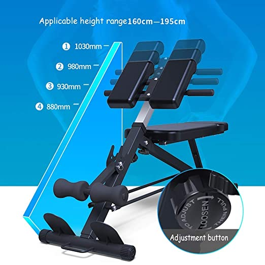 XQY Silla de ejercicios, mesa de pesas ajustable en el banco con ...