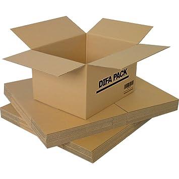 DIFA Pack de 12 | 24 Cajas de Cartón - Alta Calidad, Resistente - Cajas