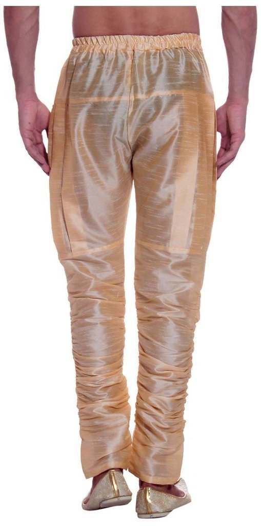 Royal Kurta Men's Art Silk Fine Quality Ready to Wear Harem Pant Free Size Gold by Royal (Image #2)