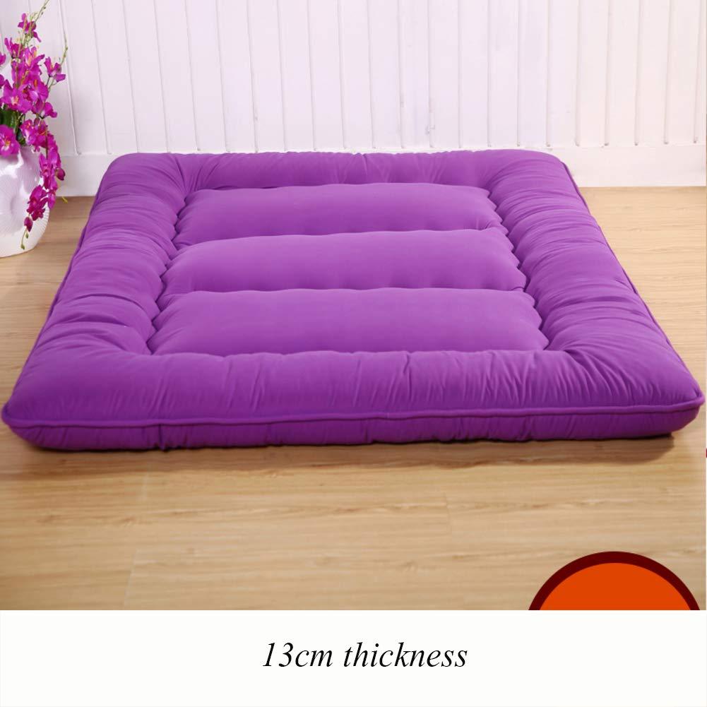 F 100x200cm(39x79inch) Thicken Floor Futon Mattress mat, Ergonomics Foldable Sleeping Tatami Breathable Japanese Bed roll for Student Dorm Living Room-B 90x200cm(35x79inch)