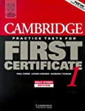 Cambridge Practice Tests for First Certificate 1, Paul Carne and Louise Hashemi, 0521498961