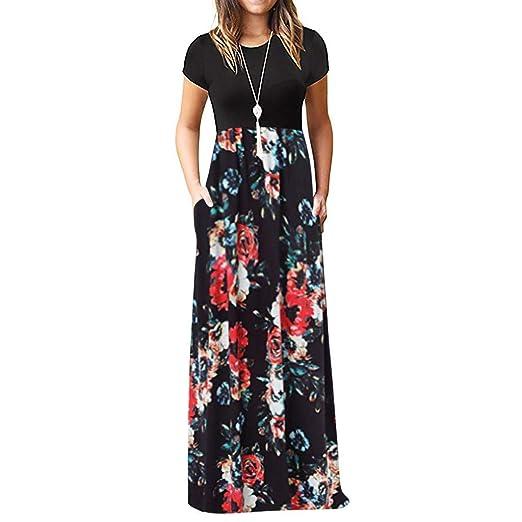 512734d3199 Print Beach Summer Dress, Women Cold Shoulder Pocket Floral Elegant ...
