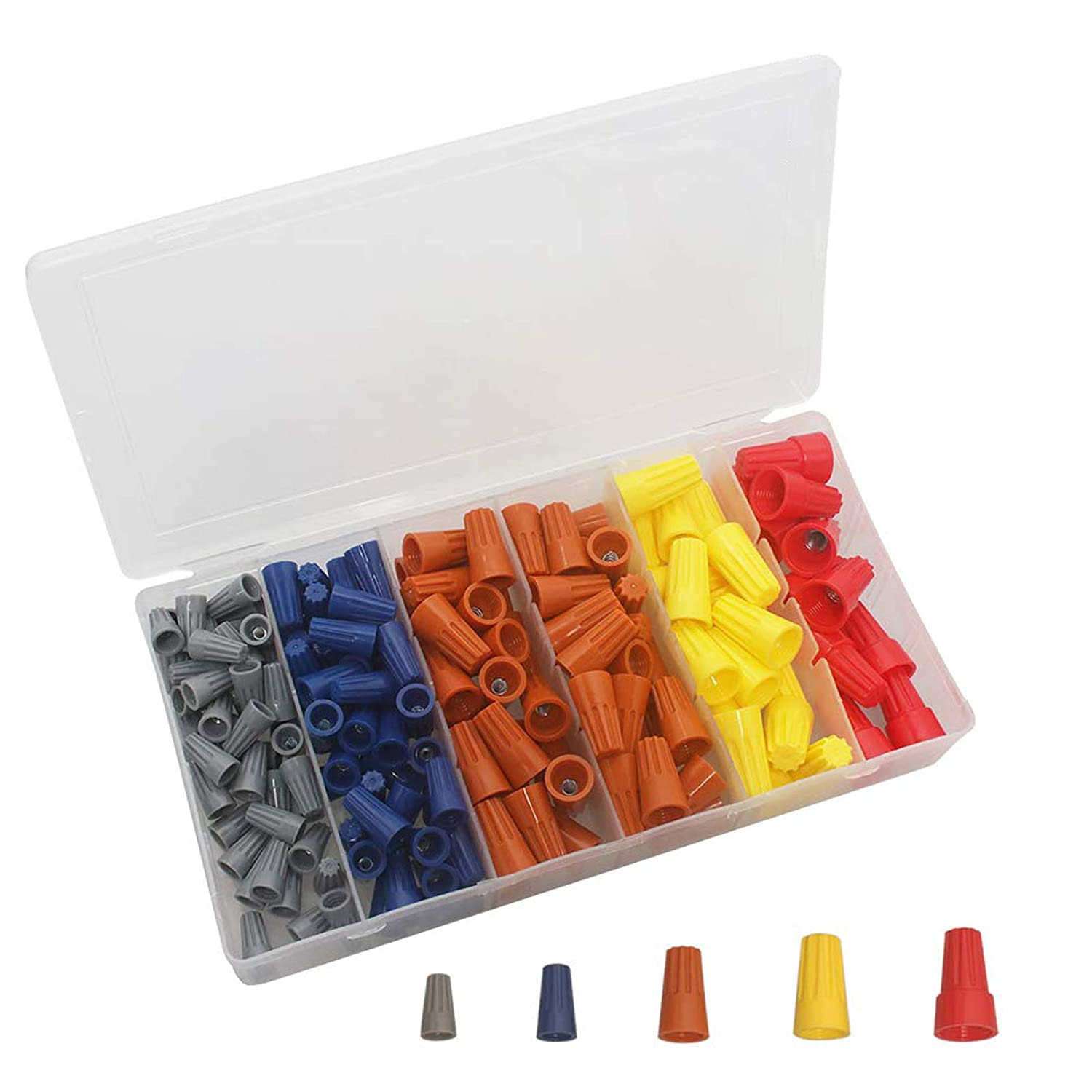 Nuts Spring AWG 220 Pcs Electrical Wire Connectors Screw Terminals Assortment