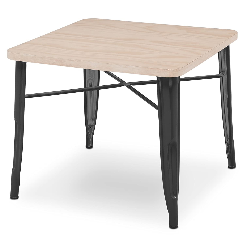 Delta Children Bistro Kids Play Table, Black with Driftwood