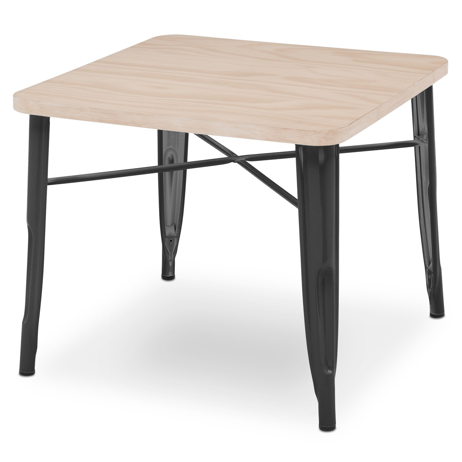 Delta Children Bistro Kids Play Table, Black with Driftwood