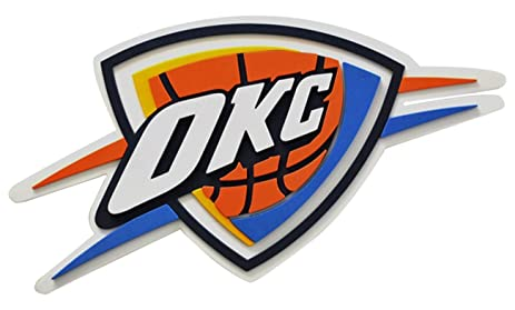 Foam Fanatics Oklahoma City Thunder 3D Logo Sign With Strap Team Color