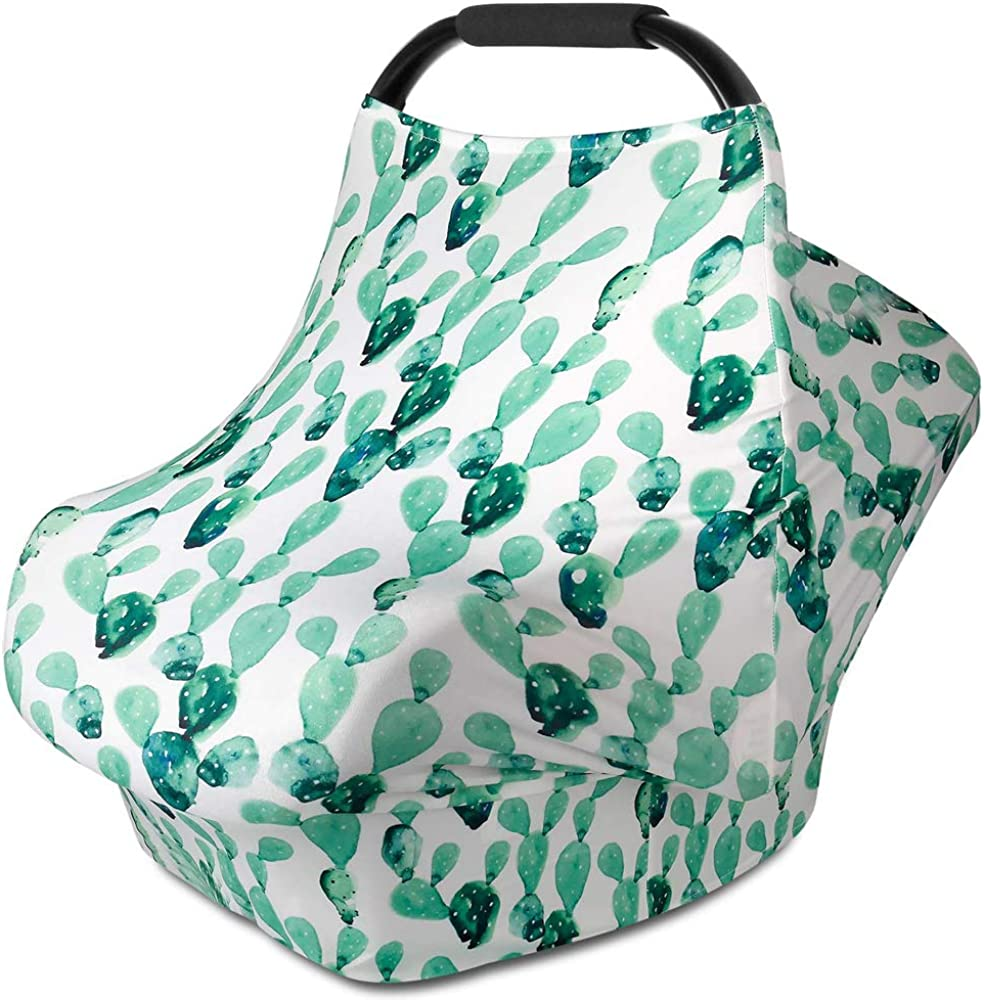 jemous Baby Carseat Covers The Stretchy Nursing Scarf Infant Car Cover and High Chair Cover with Stretchy-Fabric Nursing Cover That Protects Babies and Breastfeeding Mothers Safe Comfortable