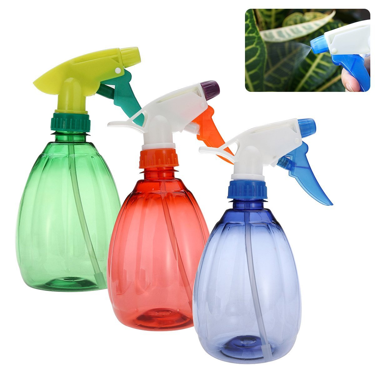 Frcolor 2pcs 550ml Empty Spray Bottle Multi-functional Plastic Spray (Assorted Colors)