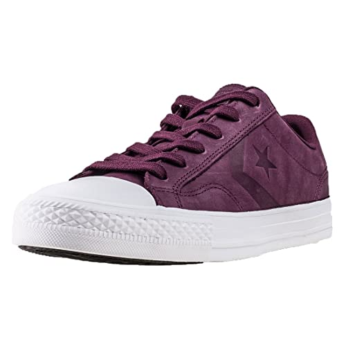 Converse Womens Star Player Ox Dark Sangria Leather Trainers 5 UK